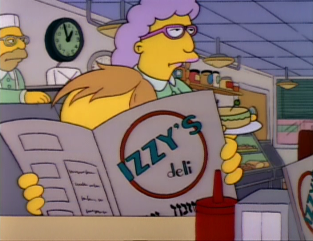 Izzys on the Simpsons