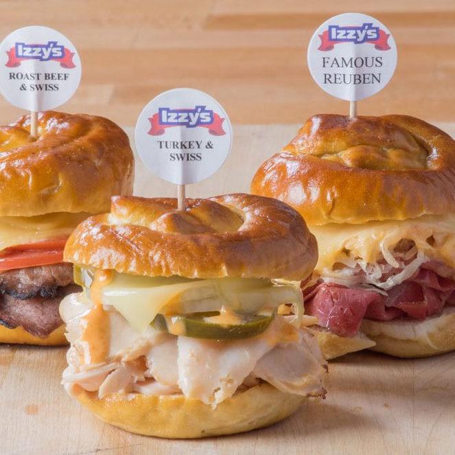 Three Mini Sandwiches